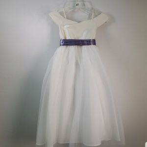 US ANGELS SILK SHANTUNG AND ORGANZA DRESS SIZE 14